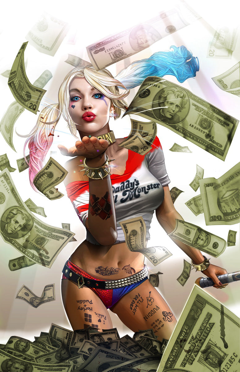 "Harley Quinn's BLOOD MONEY - 24"" x 36"" Poster - Signed"