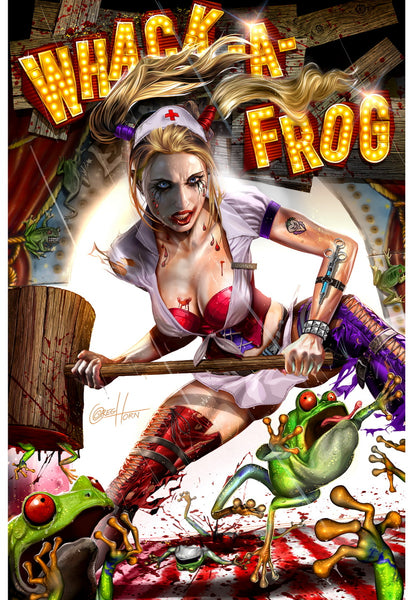 Harley Quinn's Whack-A-Frog - Limited Lithograph