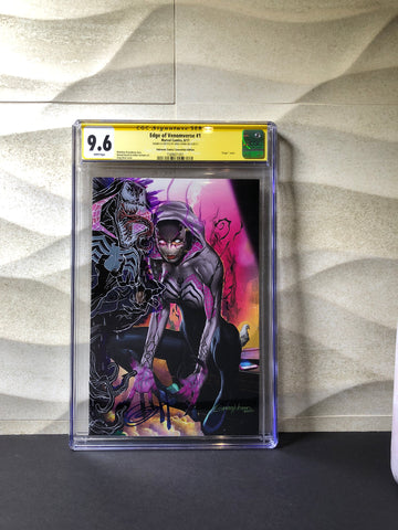 Edge Of Venomverse #1 cgc ss 9.6 D cover remark.