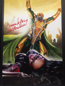 G.I. JOE - Serpentor Puts Baroness Down - high quality 11 x 17 digital print WITH Morgan Lofting AND Greg Horn Signature.