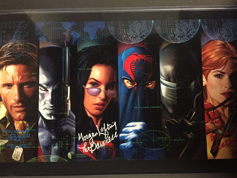G.I. JOE - The First Movie Cast - high quality 11 x 17 digital print. Signed by B.J. Ward, Morgan Lofting, Michael Bell, and Greg!