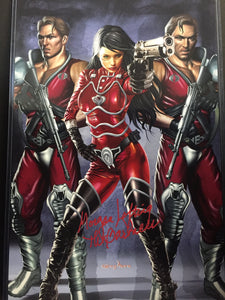 G.I. JOE - Baroness with Xamot and Tomax - high quality 11 x 17 digital print. Also signed by Greg and Morgan Lofting!