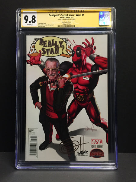 Deadpool's Secret Secret War #1 STAN LEE COLLECTIBLES Exclusive variant CGC 9.8 Signature Series