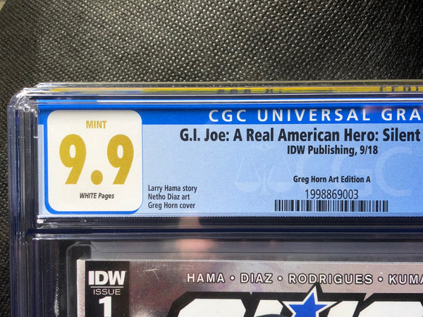 G.I. Joe Silent Option #1 CGC graded 9.9