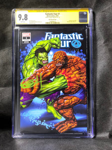 Fantastic Four # 1 Set of Two Trade and Virgin Covers Wanted Comix Signed by Greg Horn CGC 9.8 SS