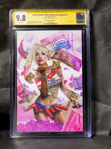 Harley Quinn 25th Anniversary Special # 1 Edition C  Signed by Greg Horn CGC 9.8 SS