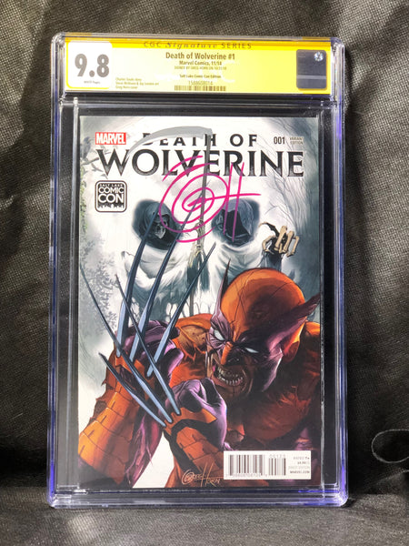 Death of Wolverine # 1 Salt Lake City Comic Con Variant Signed by Greg Horn CGC 9.8 SS