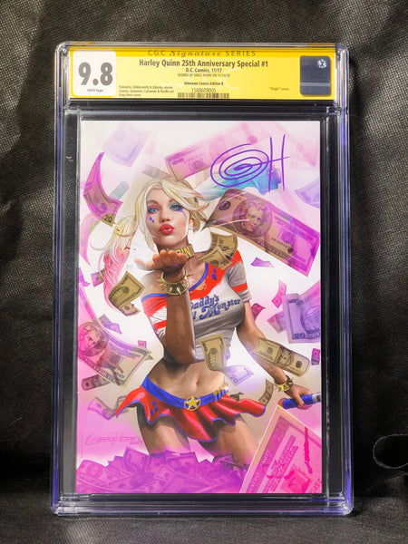 Harley Quinn 25th Anniversary Special # 1 Signed by Greg Horn CGC 9.8 SS