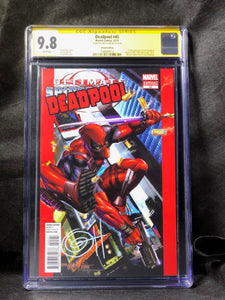 Deadpool 45 Marvel Comics 50th Anniversary Cover Variant Signed by Greg Horn CGC 9.8 SS