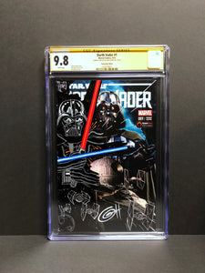 Darth Vader # 1 Game Stop Edition CGC 9.8 SS Signed & Sketched by Greg Horn