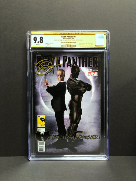 Black Panther # 1 MFCC (Dubai) Stan Lee Collectibles Variant CGC 9.8 SS