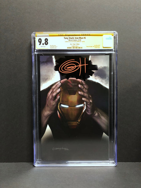 Tony Stark: Iron Man #5 1:200 RATIO retailer incentive variant CGC 9.8 w signature