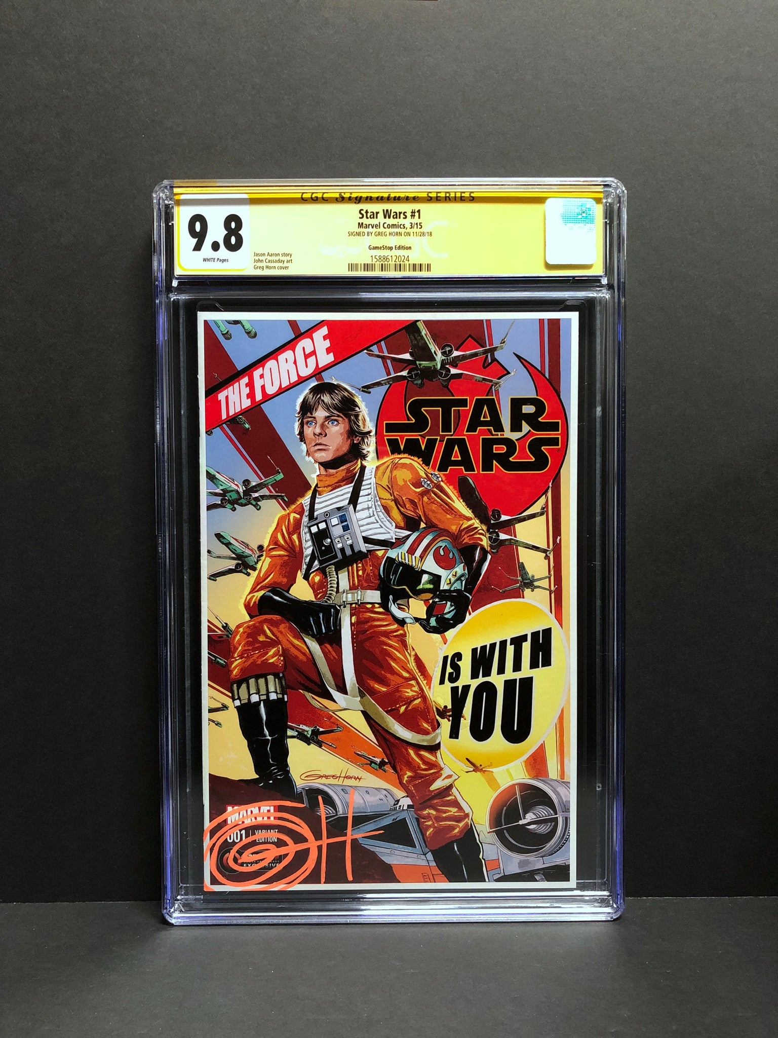Star Wars # 1 GameStop Edition CGC 9.8 SS Signed by Greg Horn