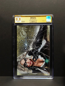 Black Cat # 1 - ComicXposure Greg Horn Art Excluisve CGC 9.9 Signature Series