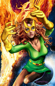 Phoenix Resurrection ( THREE costume options) - high quality 11 x 17 digital print