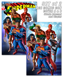 SUPERMAN #75 ACE COMIC CON VIP EXCLUSIVES - SLIGHT DAMAGE
