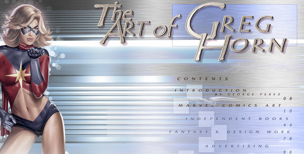 The Art of Greg Horn (2010) SCRATCH n DENT HARDCOVER 144 pgs color