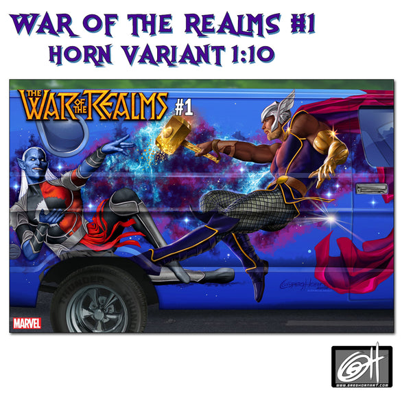 "War of the Realms # 1 Greg Horn ""Van Art"" 1:10 Variant Cover"