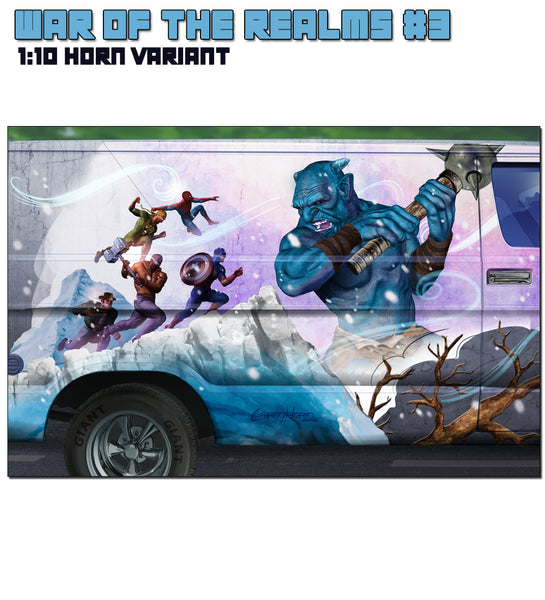 "War of the Realms # 3  Greg Horn ""Van Art"" 1:10 Variant Cover"