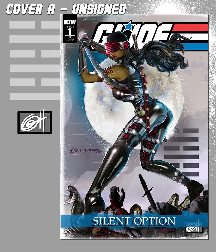 G.I.JOE SILENT OPTION #1 Greg Horn Art variant