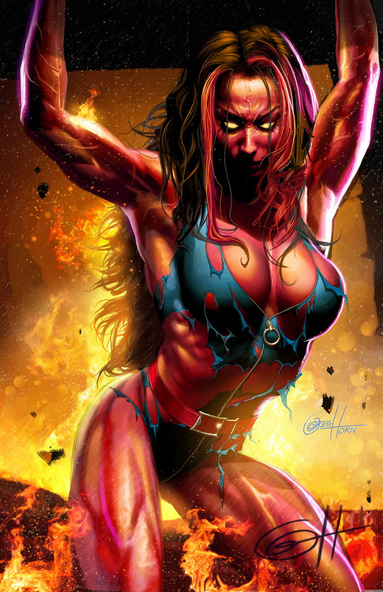 Red She-Hulk - high quality 11 x 17 digital print