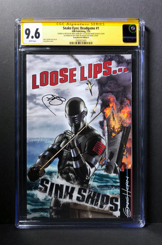 Snake Eyes Deadgame # 1 CGC Signature Series - Signed by Ray Park & Signed/Remarked by Greg Horn