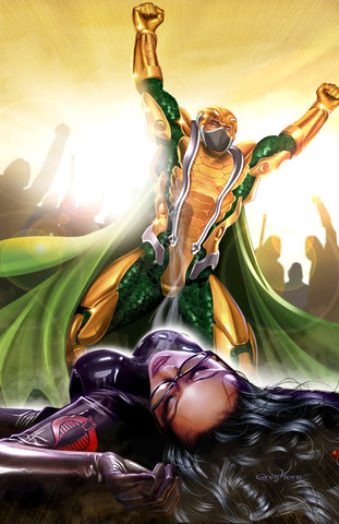 G.I. JOE - Serpentor Puts Baroness Down - high quality 11 x 17 digital print