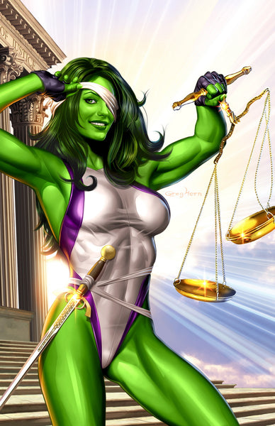 She-Hulk - Blind Justice - high quality 11 x 17 digital print