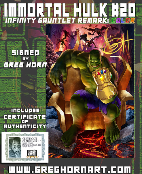 Immortal Hulk # 20 - ComicXposure Greg Horn Art Remarqued Books