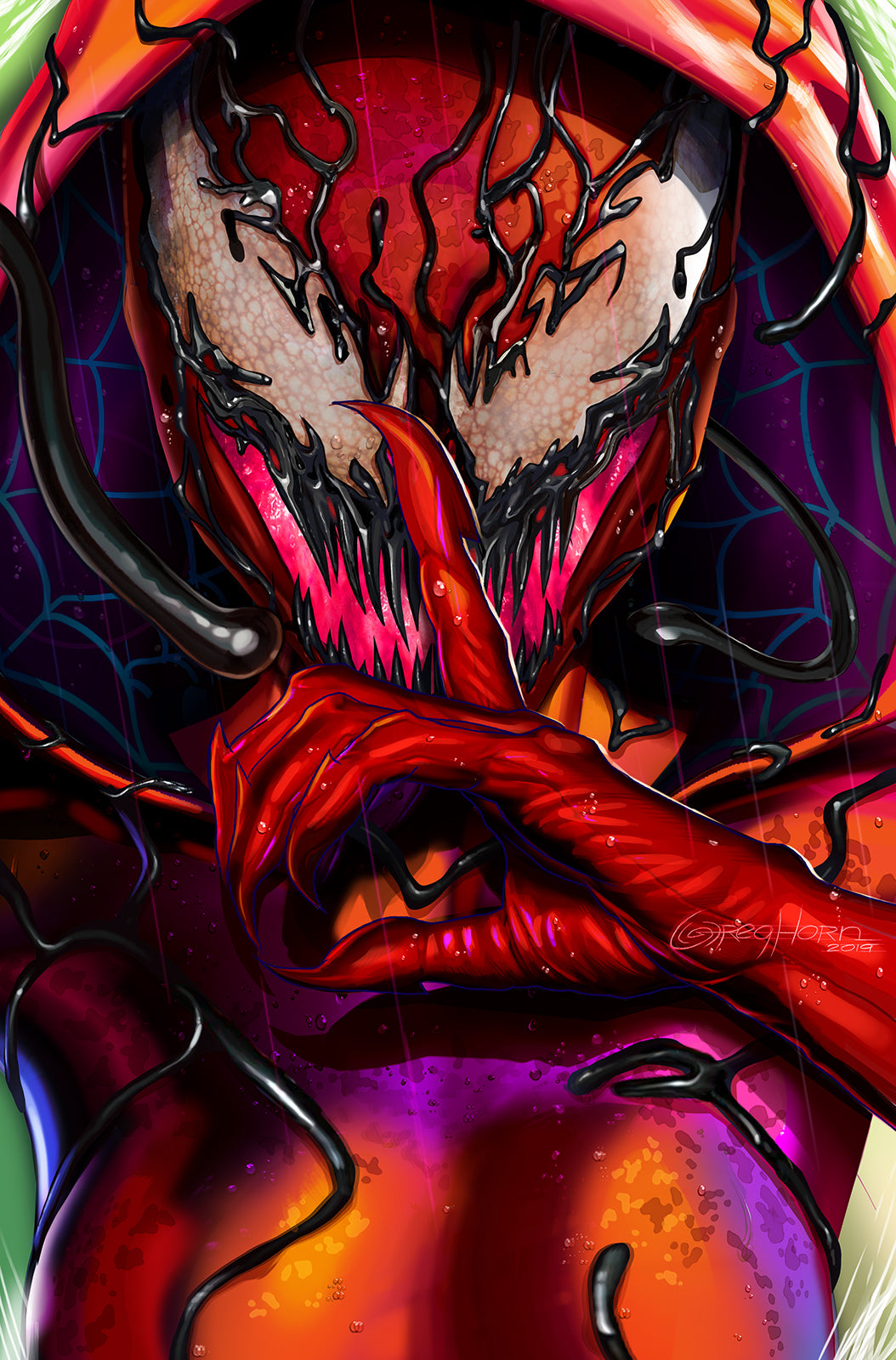 Spider-Verse Gwarnage Carnage - High Quality 11 x 17 Digital Print