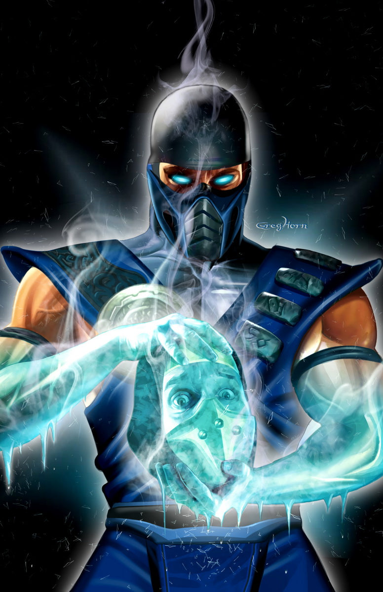 Mortal Kombat - Sub Zero - high quality 11 x 17 digital print