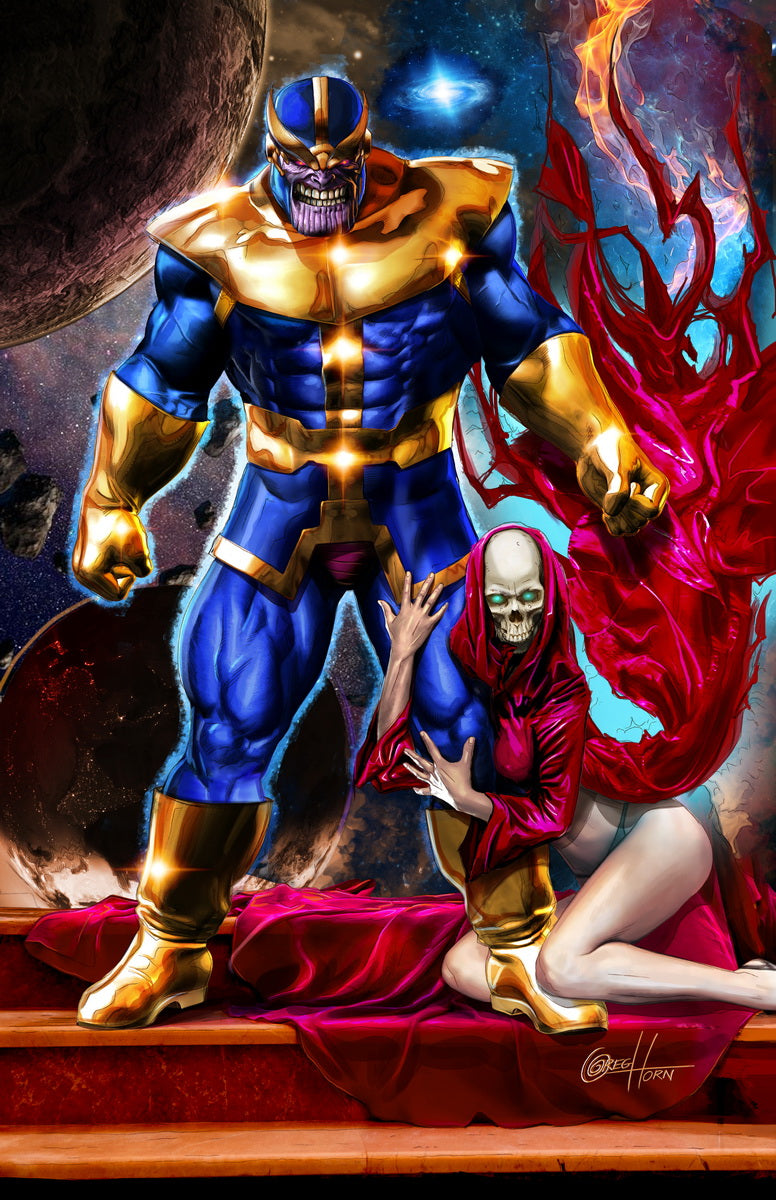 Thanos and Death - high quality 11 x 17 digital print