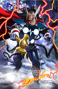 Beta Ray Bill remark over Black Winter - High quality - 11 x 17 digital print
