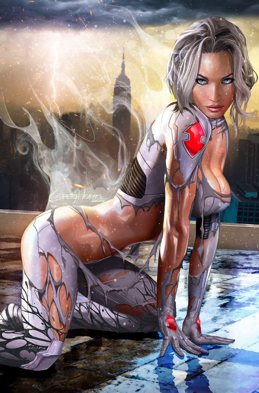 White Widow - On the Prowl - High Quality 11 x 17 Digital Print