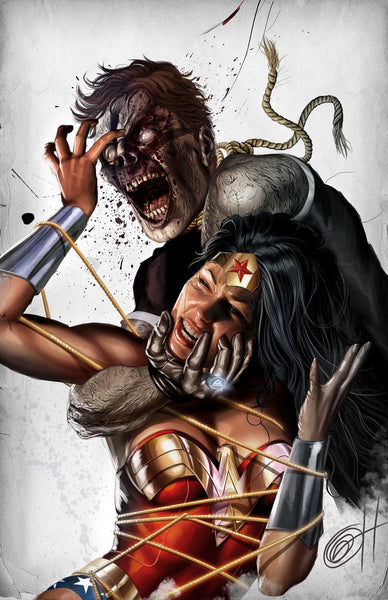 Blackest Night: Wonder Woman - high quality 11 x 17 digital print