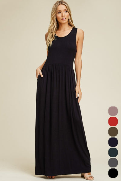 Tank Maxi Dress with pockets