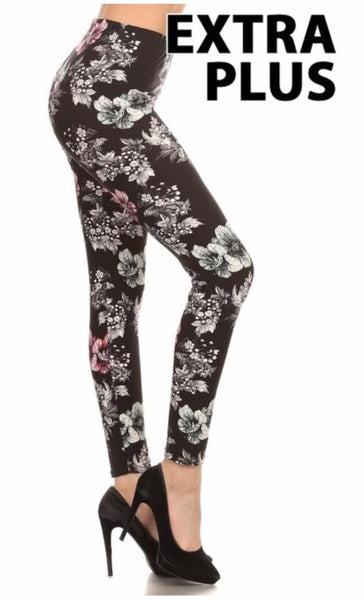 Leggings - Pale Floral Print