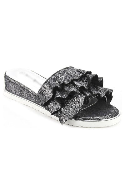 Sparkly Ruffle Sandals