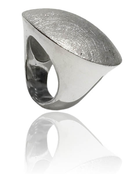 Brushed Oval Ring