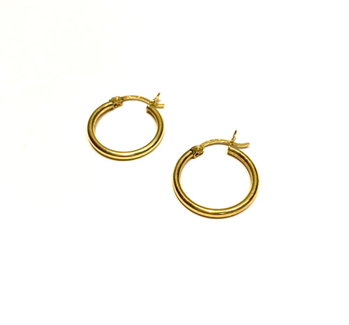 10k Gold Medium Classic Hoops
