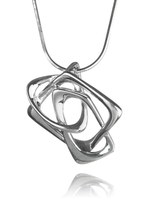 Bilbao Three Square Angular Pendant