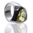 Faceted Triangle Stone Ring