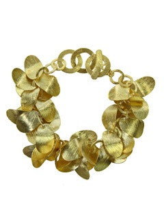 Vermeil Brushed Leaf Bracelet
