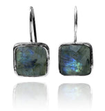 Capri Large Square Earrings Labradorite