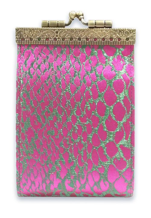Card Holder Fuchsia and Green