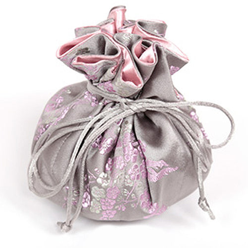 Jewelry Pouch Cherry Blossom - Grey