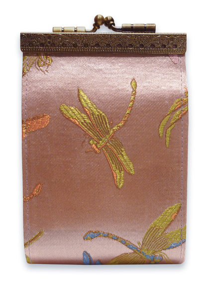 Cathayana Card Holder - RFID Light Pink Dragonfly