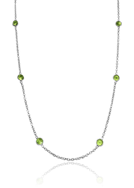 Tiny Kathak 7 Stone Necklace Peridot