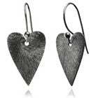 Bloom Brushed Heart Earrings