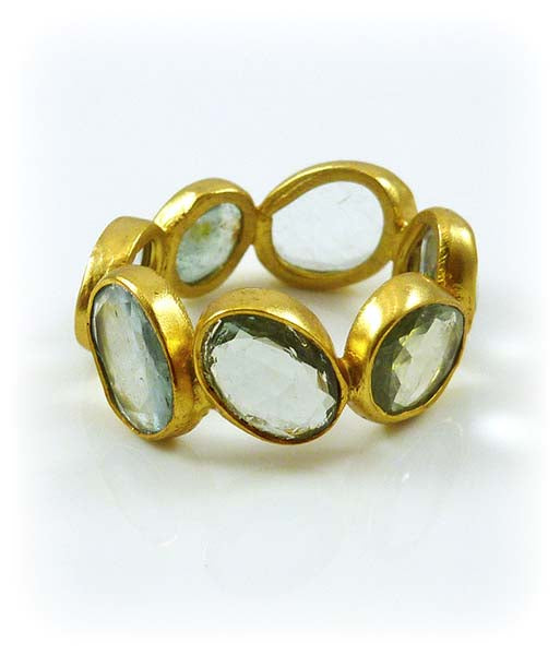 Cobblestone Ring Aquamarine 6